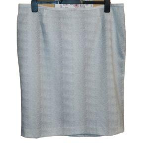 Calvin Klein snakeskin print pencil skirt